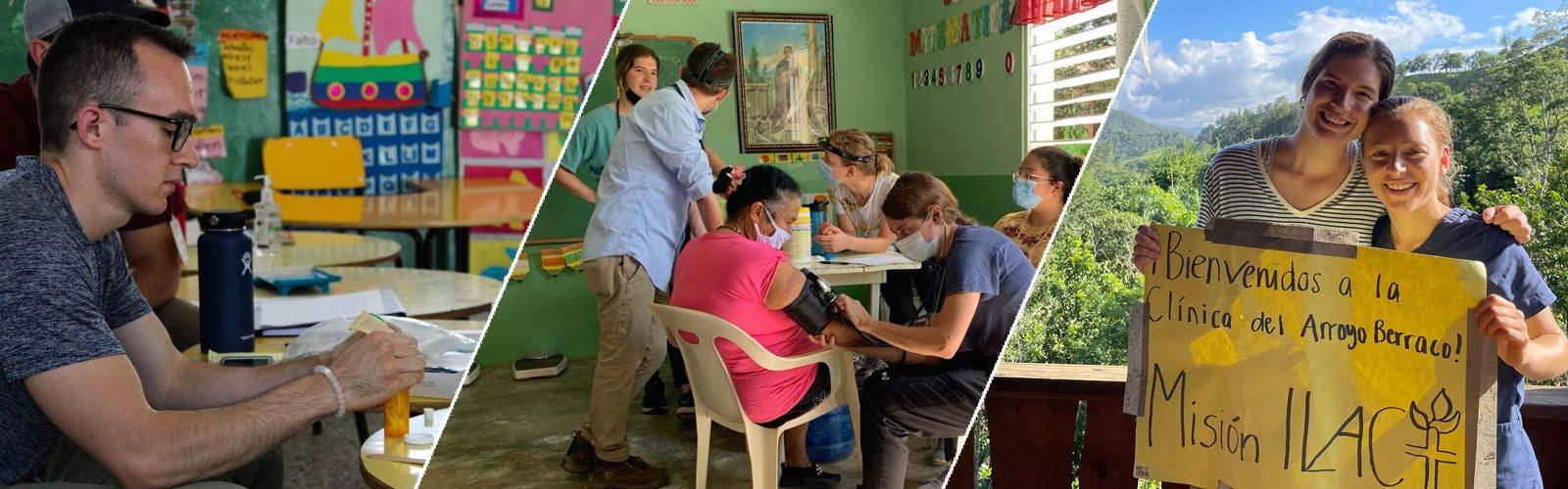 Students working in global settings