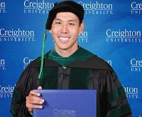 A Creighton Medical School graduate with diploma