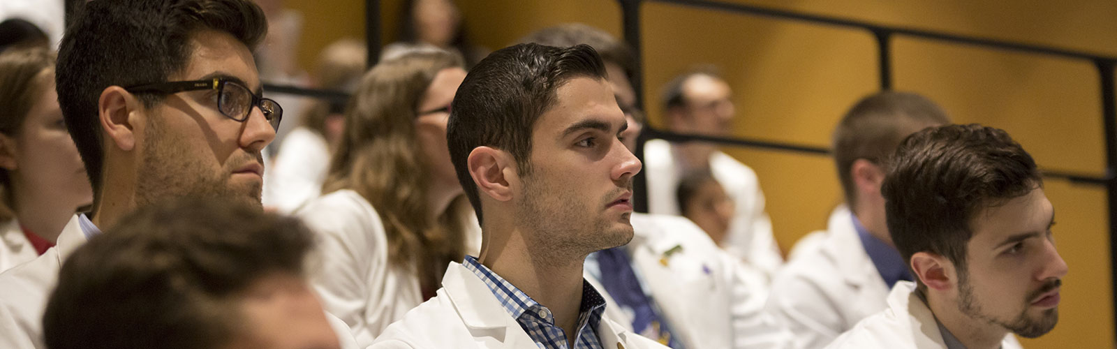 Creighton med students in Grand Rounds at Boys town hospital