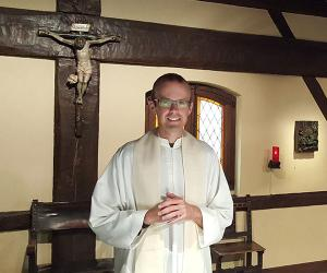 The Rev. Ben Osborne, SJ, in a chapel