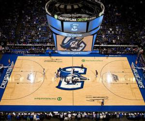 Creighton bluejays basketball court
