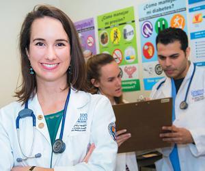 Lauren Glaser at student-led clinic